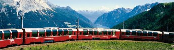 Панорамный поезд экспресс Бернина (Bernina Express)