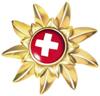 Эдельвейс украшает логотип Switzerland Tourism и символизирует высокое качество швейцарского туризма.